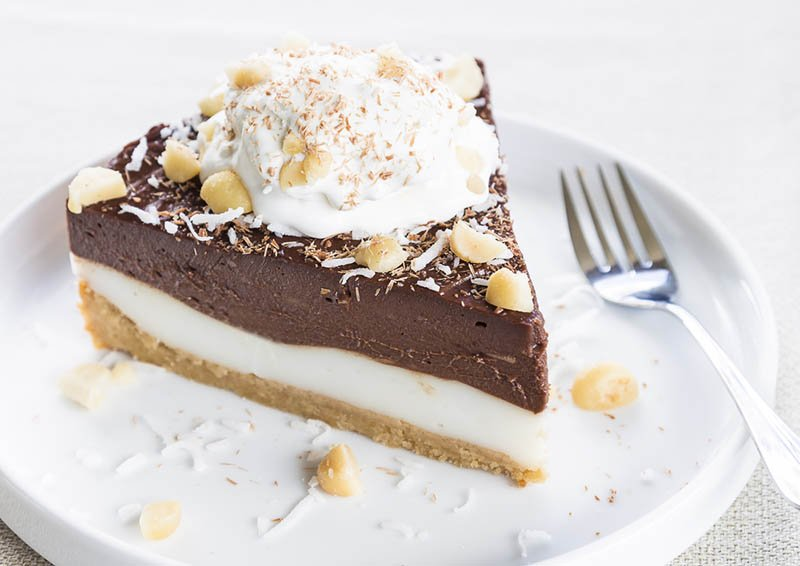 chocolate haupia cream pie